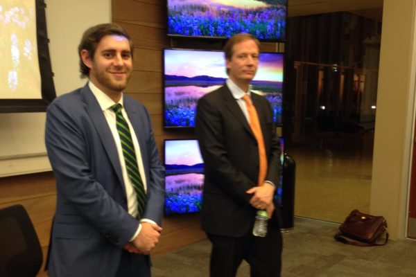 Morgan Stanley's Grant Brady and Tripp Evans Join MME Students in Trading Simulation